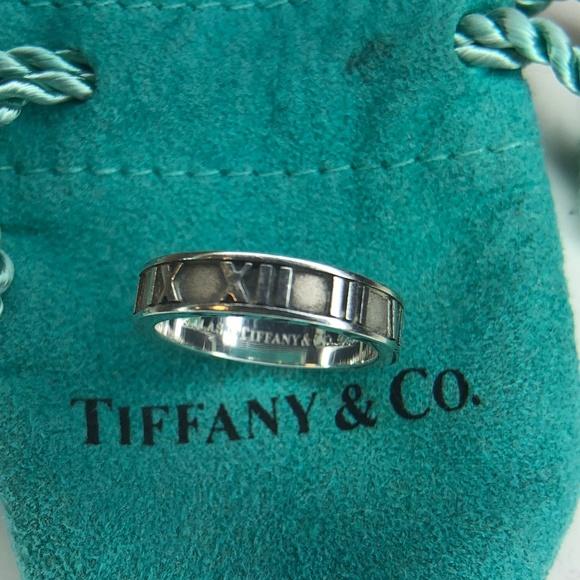 f92ea56ef Tiffany & Co. Jewelry   Atlas Narrow Roman Numeral Ring 425   Poshmark